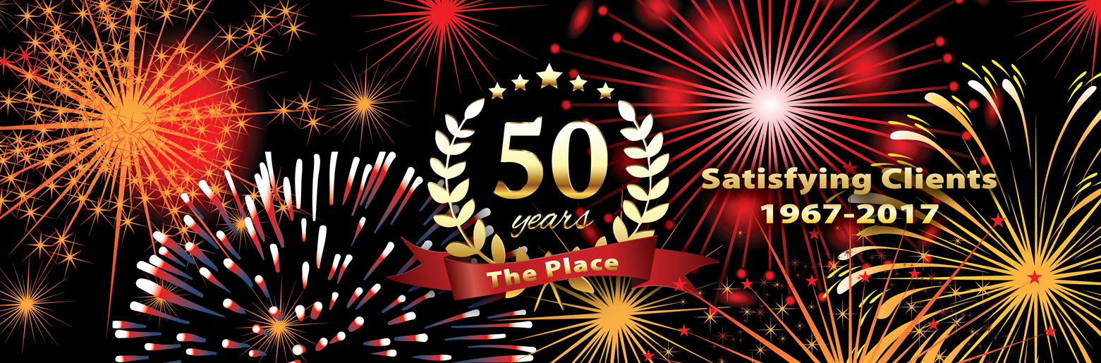 The Place 50th Anniversary banner