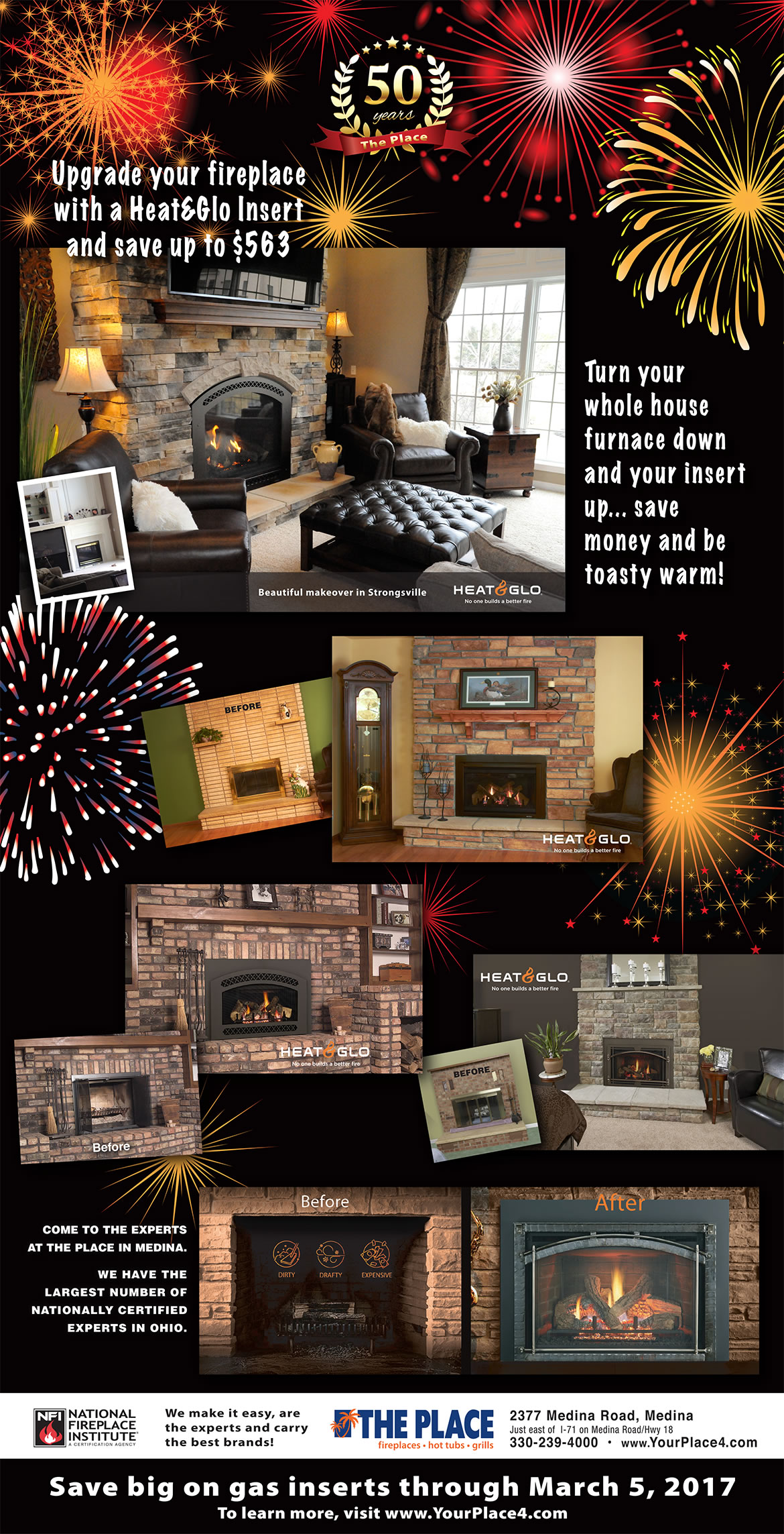 50th-Anniversary-Heat&Glo-Fireplace-Insert-Sale