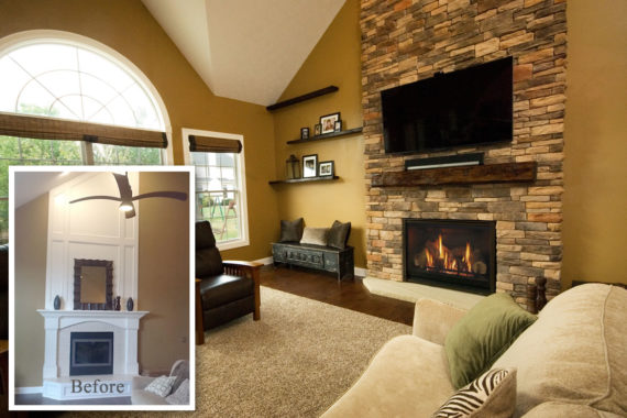 Fireplace Makeover-Strongsville, OH