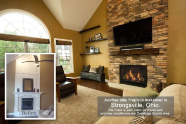 fireplace makeover in Strongsville, OH by The Place