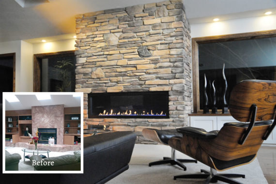 Fireplace Makeover in Medina, OH