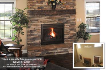 Fireplace-makeover-Seville-OH