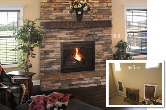 Fireplace Makeover in Seville, OH