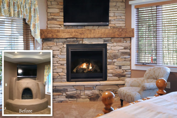 Fireplace Makeover in Akron, OH