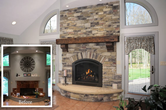 Fireplace Makeover in Montrose, OH