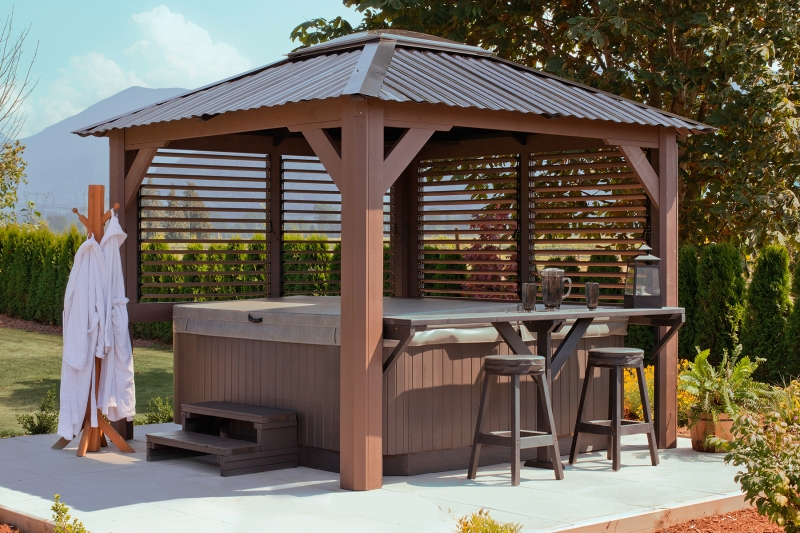 Visscher specialty products at the place for Spa gazebos
