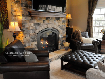 Greatroom Get-a-way - Fireplace Makeover - The Place