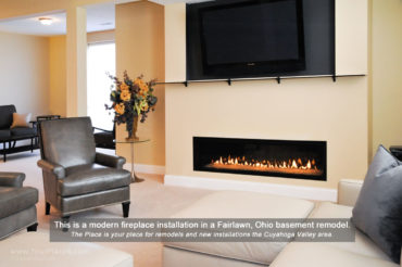 Fireplace installation in Fairlawn, OH by The Place
