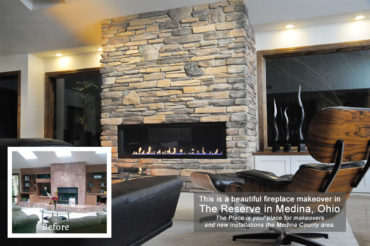 Fireplace Makeover at The Reserve in Medina OH by The Place