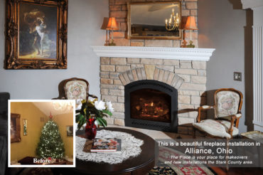 Fireplace-installation in Alliance OH by The Place