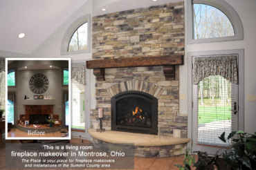Living Room Fireplace Makeover in Montrose, OH by The Place