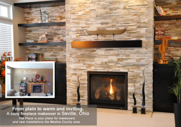 Fireplace Makeover in Seville,Ohio