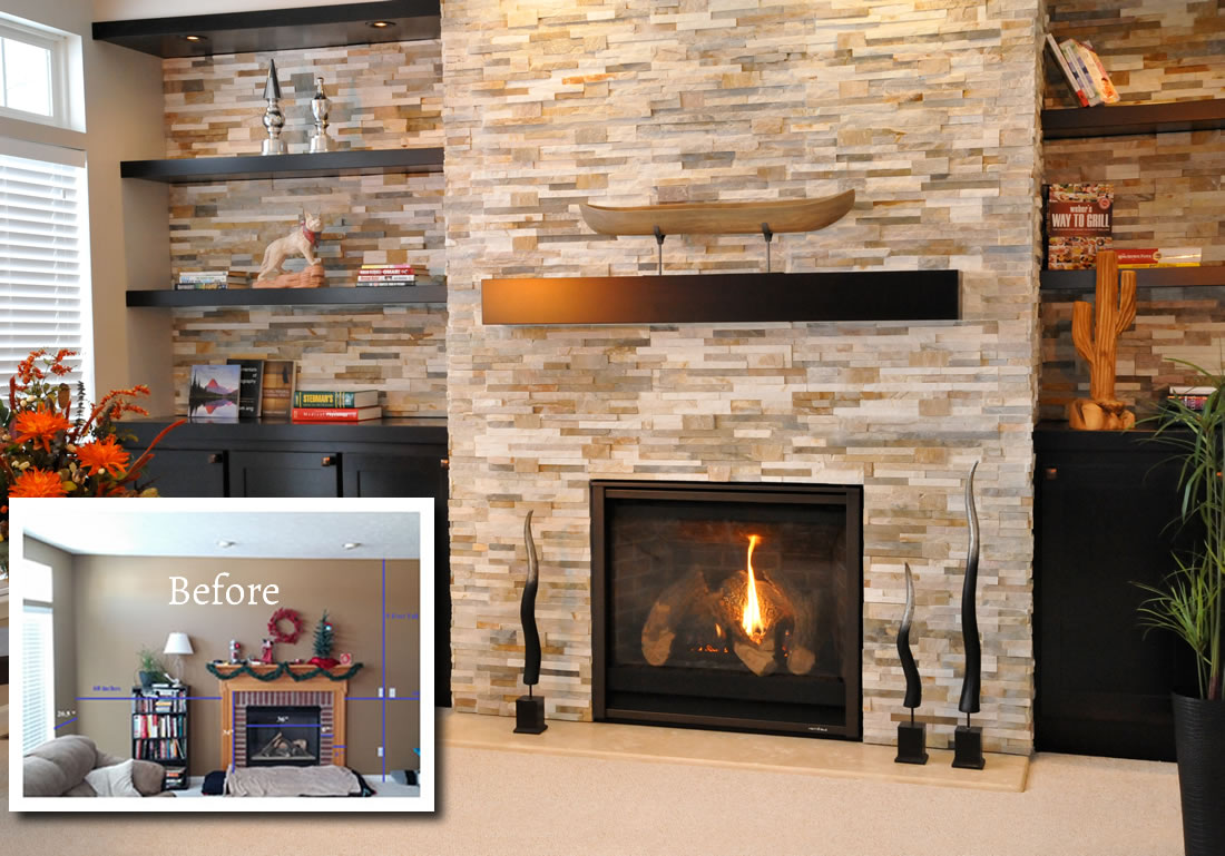 Fireplace Makeover In Seville Ohio The Place